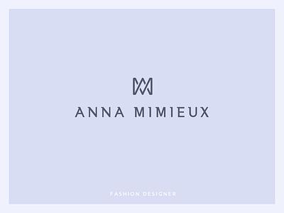 Anna Mimieux logo mimieux anna designer fashion mark logos logo glyph emblem branding