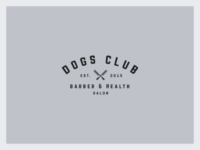 Dogs Club Logo salon barber club dogs vintage mark logos logo glyph emblem branding