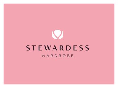 Stewardess Wardrobe Logo blogger fashion mark logos logo glyph emblem branding wardrobe stewardess