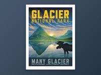 Glacier National Park - Many Glacier Poster