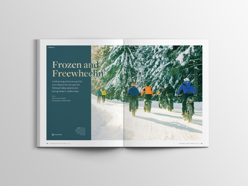 Frozen and Freewheelin' typography magazine feature editorial