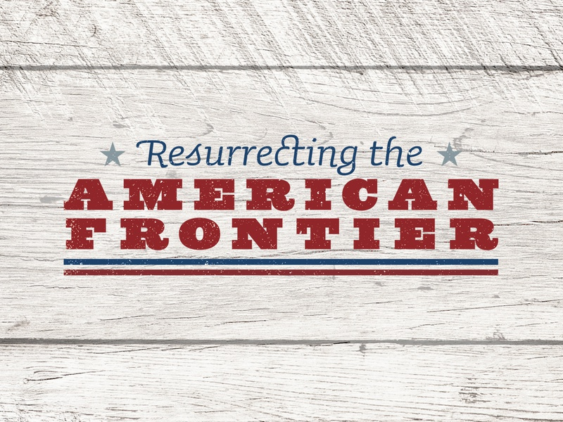 Resurrecting the American Frontier editorial logo feature typography