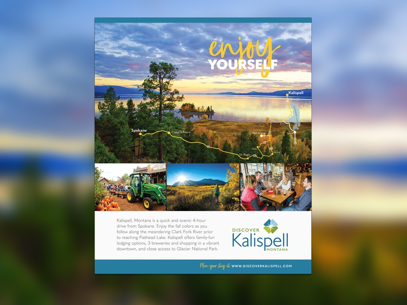 Enjoy Yourself - Discover Kalispell Ad Campaign explore montana maps flathead kalispell discover advertisement