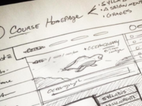 E-learning Lesson Page Sketch