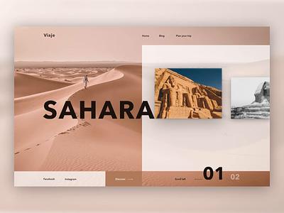 Sahara Website officience layoutdesign layout uidesign webdesigner website design sahara travel traveling webdesign animation flat website typography illustration branding web ui ux design