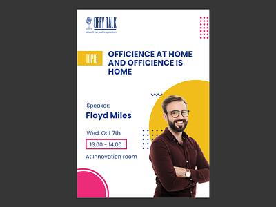 OffyTalk layoutdesign eventdesign poster design design poster events