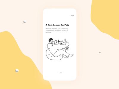 Pet Adoption Mobile App pet adoption pet care illustration mobile app design mobile app ui layout website uidesign animation layoutdesign design