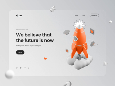 Q.on Website ui uidesign website layout animation design layoutdesign web qanon aftereffects landing page webdesign 3d animation 3d