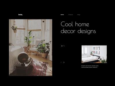 Interior Design homedecor landpage ui design officience webdesigner layout webdesign ui website animation uidesign layoutdesign design