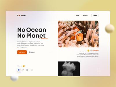 Ocean Landing Page landing landingpage layout webdesigner webdesign uidesign website ui design layoutdesign