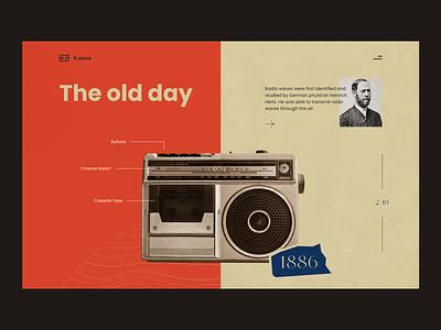 Radio Landing Page landingpage radio layout ui design layoutdesign uidesign website graphic design