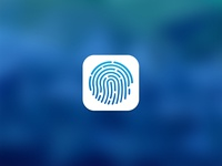 Touch Id Icon Blue