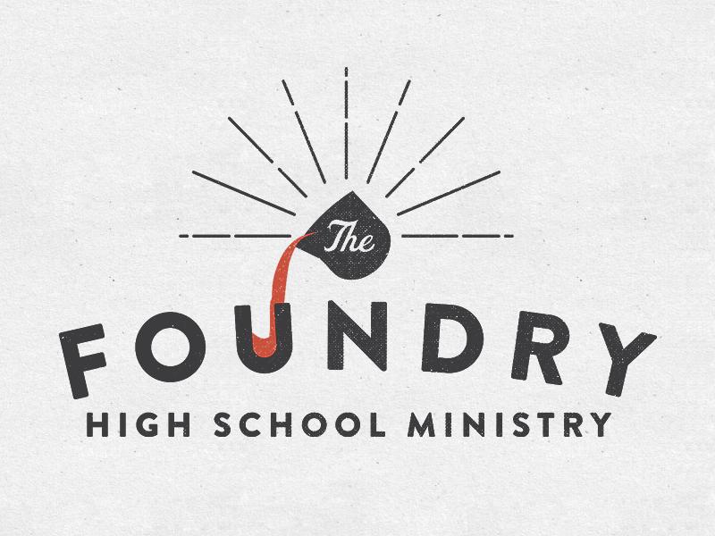 Foundry ministry church logo brandon grotesque texture identity typography