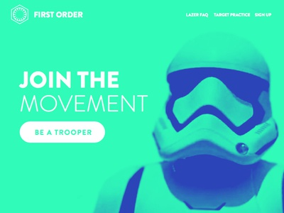 Daily UI #003 - First Order Landing Page