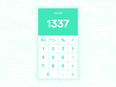 Daily UI #004 - 1337 Calc 1337 calculator 004 dailyui