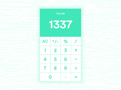 Daily UI #004 - 1337 Calc