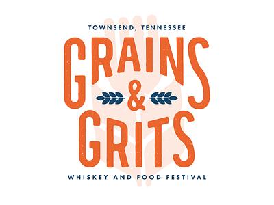 Grains & Grits Logo Variation logo whiskey grains design tn tennessee vector texture identity