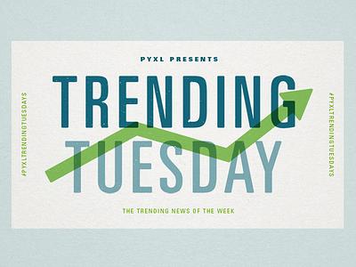 Pyxl Trending Tuesdays univers texture green blue paper trending blog