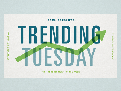 Pyxl Trending Tuesdays univers texture green blue paper trending blog