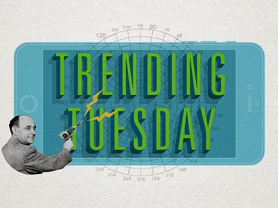 Trending Tuesday Ray Gun ray gun collage univers trending texture paper green blue blog