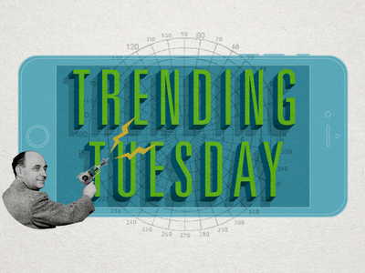 Trending Tuesday Ray Gun ray gun collage univers trending texture paper green blue blog