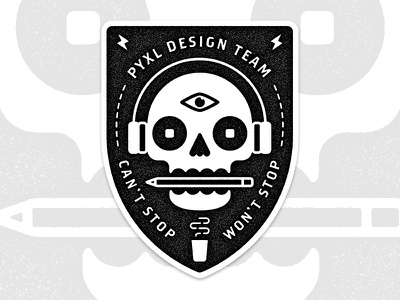 Stickers for Design eye stickers skull pyxl illustration design designers badge