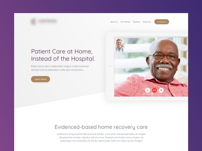 Home Care Site web design layout concept ui mockup website healthcare