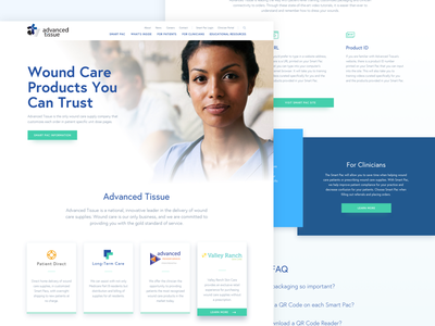 AT Site Redesign ui web design mockup layout concept website healthcare