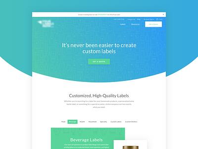 Stickersite blue green design ux ui home page labels web webdesign