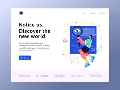 focus web ui app design illustration