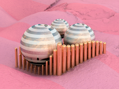 Pink land design photoshop c4dart c4dfordesigners abstract design blender octane 3dartist cinema4d art c4d 3dart 3d