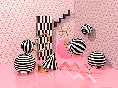 3D Geometric Shapes branding abstract art abstract design 3dartist cinema4d c4dart c4d 3dart 3d