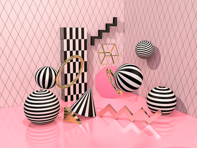 3D Geometric Shapes branding abstract art abstract design 3dartist cinema4d c4dart c4d 3dart 3d