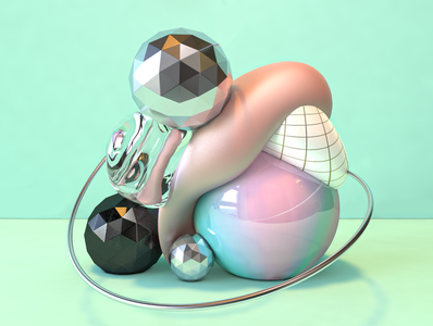 Parx Filatov anda Kara Remix-Artwork branding blender abstract c4dart illustration 3d c4d 3dart cinema4d 3dartist