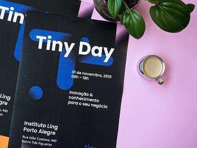 Cartaz Tiny Day education branding event branding graphic  design