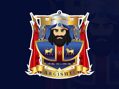Urartian King Argishti t-shirt print design graphicdesign king armenian illustration art game art game design character design design illustration illustrator argishti urartu