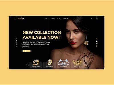 Ui/UX design for  GOLDWAY creative design site builder ux jewelry gold site minimalism uidesign webpage website design webdesign website uxui ui  ux ui design ui