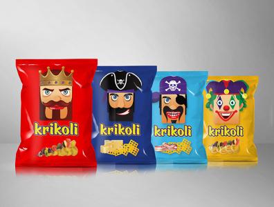 krikoli chips package design packagedesign package branding logodesign illustration logodesigner brand creative logotype logo