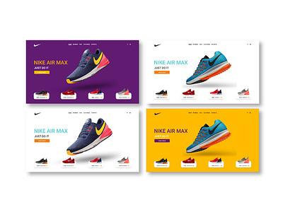 ui/ux design concept for Nike brand creative colorul adobexd nike concept uiux uiuxdesign ux ui webpage website design webdesign web