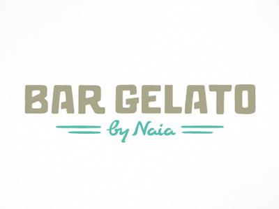 Bar Gelato Logo typography logo