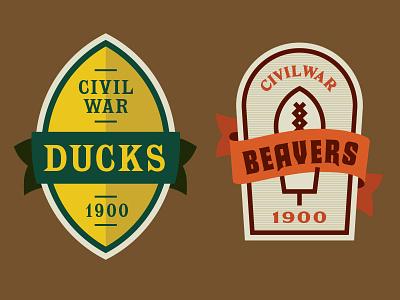 Ducks Vs Beavers Beer Design 1900 design label beer sports
