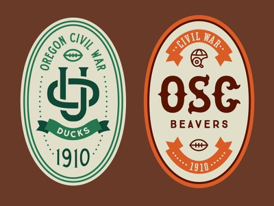 Ducks Vs Beavers Beer Design 1910 design label beer sports