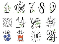 Frenchy Christmas Numerals