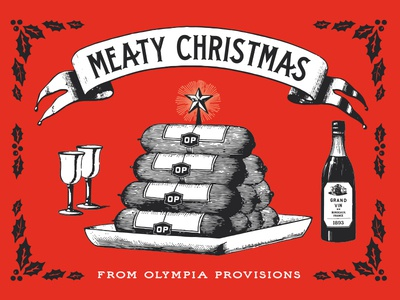 Olympia Provisions Holiday Card