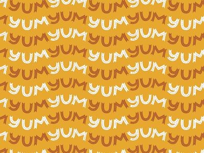 Yum Yum Yum Pattern pattern lettering typography hand drawn illustration