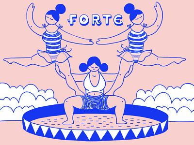 Filles Forte Pyramid ipadpro hand drawn illustration