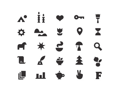 Friday and Company Icons real estate lifestyle dala scandinavian style vector iconography icon set
