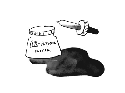 Fantastical Gifts - All Purpose Elixir spill dropper jar ipadproart hand drawn illustration