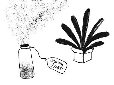 Fantastical Gifts - Dream Dust sprinkle burst box ipadproart hand drawn illustration