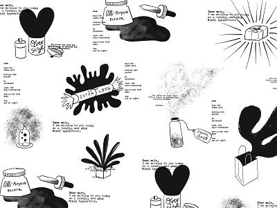 ~*Fantastical Gifts*~ burst package heart box ipadproart hand drawn illustration